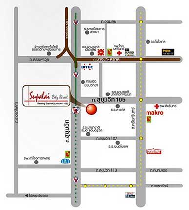 ศุภาลัย ซิตี้ รีสอร์ท สถานีแบริ่ง สุขุมวิท 105 อาคาร A [Supalai City Resort Bearing Station Sukumvit 105 Building A]