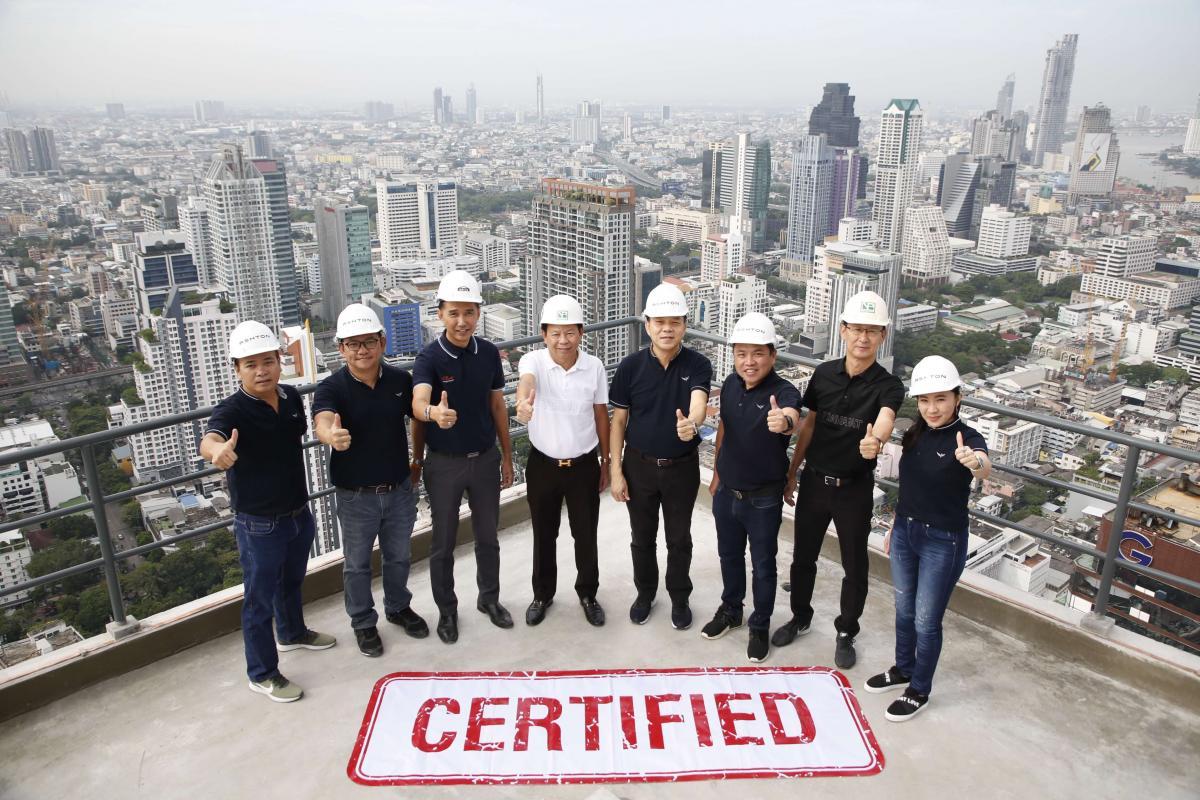 อนันดาฯ ตรวจคุณภาพงานก่อสร้าง โครงการ แอชตัน สีลม